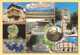 63 AMBERT / MULTIVUES / MONUMENT EMMANUEL CHABRIER - Ambert