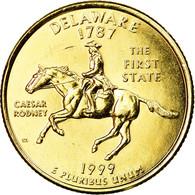 Monnaie, États-Unis, Delaware, Quarter, 1999, U.S. Mint, Denver, Gold-plated - Federal Issues
