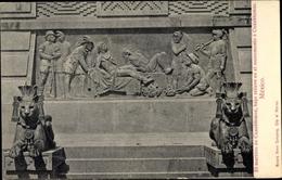Cp Mexico City Mexiko Stadt, Cuauhtemoc Monumento - Mexique