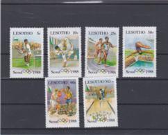 Lesotho 1988 Seoul Olympic Games Six Stamps MNH/** (H55) - Summer 1988: Seoul