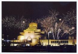 Qatar Scenes, Modern Doha, Islamic Heritage Museum Night View With Firework On Beach - Qatar