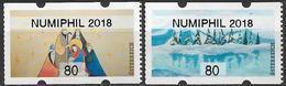 """2018 Austria Österreich  Mi. 56-7  **MNH AWZ  """" NUMIPHIL 2018 """" - 1945-.... 2nd Republic"""