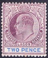LAGOS 1905 KEDVII 2d Dull Purple & Blue SG56 MH - Nigeria (...-1960)