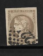France Emission De Bordeaux N°42a Oblitéré  (signé)  Cote 270€ - 1870 Emission De Bordeaux