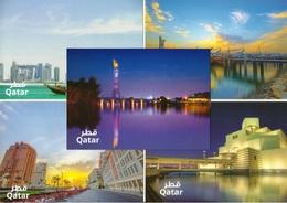 Qatar Post Cards, Modern Doha Scenic Views (Set Of 5-Cards) - Qatar