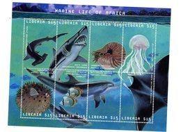 Liberia 2001-Requin,dauphin,poissons....YT 3337/40 Feuillet***MNH - Meereswelt