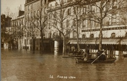 CPA Paris Rue De Lyon - Animée - La Crecida Del Sena De 1910