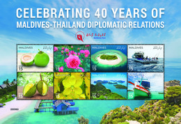 MALDIVES 2019 - Diplomatic Relations With Thailand. Official Issue - Maldives (1965-...)
