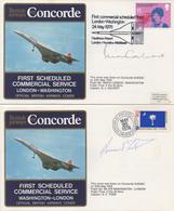 CONCORDE Plis 1er Vol Signés - Concorde