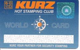 Carte Club MAGNETIQUE HOLOGRAMME Démonstration Specimen KURZ HOT STAMPING CLUB  (D 549) - France