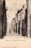 CPA    EGYPTE--ABYDOS----COLONNADE DE MEMNONIUM - Egypt