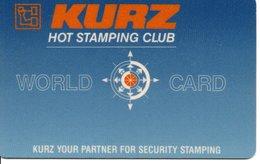 Carte HOLOGRAMME Démonstration Specimen KURZ HOT STAMPING CLUB  (D 550) - France