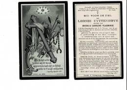DP 8015 - LEONIE UYTTENHOVE - ZARREN 1857 + DENDERHAUTEM 1918 - Images Religieuses