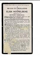 DP 8018 - ELISA HOORELBEKE - ZARREN 1870 + 1923 - Images Religieuses