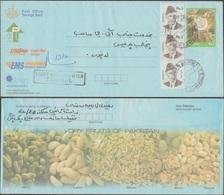 Pakistan 2003. Entier Postal Pour L'intérieur Envoyé Par Recommandé. Fruits Pakistan. Cacahuète, Pistache, Amandes - Frutta