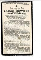 DP 8020 - LEONIE DEWILDE - ZARREN 1890 + 1927 - Images Religieuses