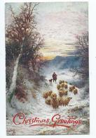 Christmas Postcard Winter's Mantle Tuck's Oilette Christmas Greetings Posted 1925 - Altri