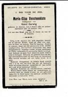 DP 8022 - MARIA VANSTEENKISTE - ZARREN 1864 + 1931 - Devotieprenten