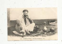 Cp , ALGERIE , Scénes & Types , Arabe Dans Son Interieur ,  Vierge - Algérie