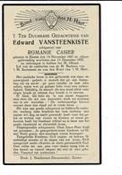 DP 8023 - EDWARD VANSTEENKISTE - ZARREN 1867 + 1937 - Images Religieuses