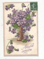 Cp , Fleurs ,AMITIE SINCERE ,  Voyagée - Flores