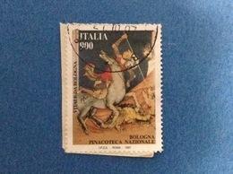 1997 ITALIA FRANCOBOLLO USATO STAMP USED PATRIMONIO ARTISTICO E CULTURALE DA 900 PINACOTECA DI BOLOGNA - - 6. 1946-.. Repubblica