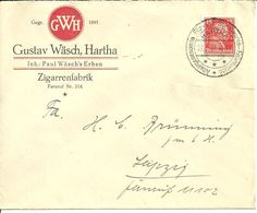 Hartha, Firmenbrief Zigarrenherstellung - Hartha