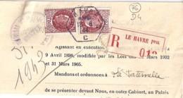 76 - SEINE MARITIME - LE HAVRE - TàD De Type D4 DE 1944 - Storia Postale