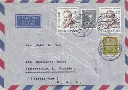 BERLIN 1959 PLI AERIEN DE BERLIN POUR JACKSONVILLE - Cartas