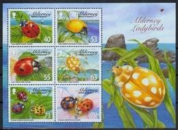 Alderney MiNr. Bl. 34 **, Einheimische Marienkäfer - Alderney