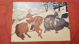 Mongolia, Yak Animal . Yack - Old Postcard - Mongolei