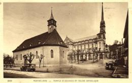 25 - Doubs - Montbéliard - Temple Saint Georges Et Eglise Catholique - C 7678 - Montbéliard