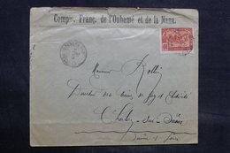 CONGO - Enveloppe Commerciale Pour La France En 1907, Affranchissement Plaisant - L 34468 - Congo Français (1891-1960)