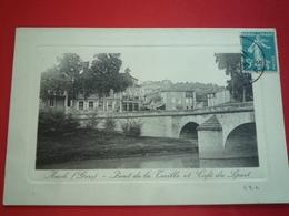 CPA 1908 AUCH PONT DE LA TREILLE ET CAFE DES SPORTS  ETAT BON - Auch