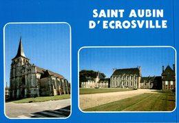 SAINT AUBIN D'ECROSVILLE - L'EGLISE ET LE CHATEAU - Saint-Aubin-d'Ecrosville
