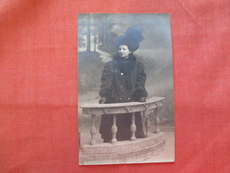 RPPC  Female Well Dressed Large Hat    Ref  3478 - Fashion