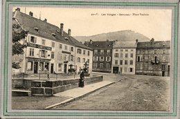 CPA - SENONES (88) - Aspect De La Boutique Au Gagne Petit Et De L'Hôtel Bardol Sur La Place Vaultrin En 1919 - Senones