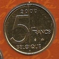 5 Frank 2000 Frans * F D C * ALBERT 2 * - 1993-...: Albert II