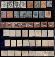 REGNO - 1863/1878 - 20 Valori Diversi Usati Su Foglio D'album - Insieme In Genere Di Buona Qualità - Da Esaminare (460) - Unclassified