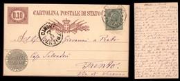 REGNO - Cartolina Postale Di Stato (3) Con Complementare (16) Da Milano A Trento - Unclassified