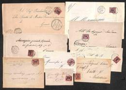 REGNO - 1878 - Soprastampati - Due Buste E Sette Pieghi Con Valori Della Serie - Alcune Ripetizioni (294) - Unclassified