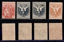 REGNO - 1915/1916 - Croce Rossa (102/105) - Serie Completa - Gomma Originale - Centratura Da Buona A Ottima - Unclassified