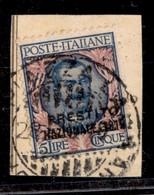 REGNO - 1918 - Prestito Nazionale - 5 Lire (Unificato 3) Su Frammento - Unclassified