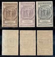 REGNO - 1923 - Pro Camicie Nere (147/149) - Serie Completa - Gomma Originale (120) - Unclassified