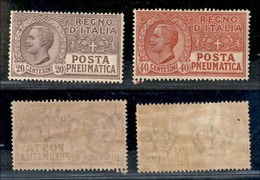 REGNO - 1925 - Posta Pneumatica (8/9) - Serie Completa - Gomma Originale (60) - Unclassified