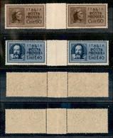 REGNO - 1945 - Posta Pneumatica (16/17) - Serie Completa - 2 Coppie Orizzontali Con Interspazio Al Centro - Gomma Integr - Unclassified