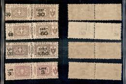 REGNO - 1923/1925 - Pacchi Postali Soprastampati (20/23) - Serie Completa - Gomma Integra (55) - Unclassified