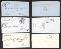 REGNO - Lombardia - 1862/1863 - Gardone Valtrompia + Iseo + Orsinovi - Tre Pieghi In Franchigia - Unclassified