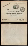 REGNO - Conto Di Credito Speciale/Contiene Certificato Medico - Busta Per Novara Del 22.5.40 Tassata - Unclassified