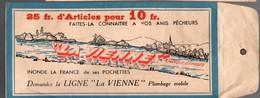 (pêche) Chinon (37 Indre Et Loire) LA VIENNE : Pochette Publicitaire Entourage Bleu  (PPP11167) - Reclame